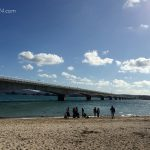 古宇利島から見た古宇利大橋